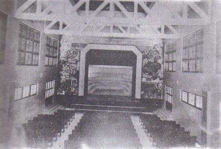 Teatro do Derby - afresco do teatro
