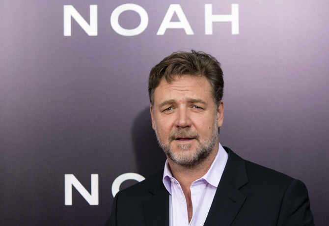 """Cast member Russell Crowe attends the U.S. premiere of """"Noah"""" in New York March 26, 2014. REUTERS/Andrew Kelly (UNITED STATES - Tags: ENTERTAINMENT HEADSHOT)"""