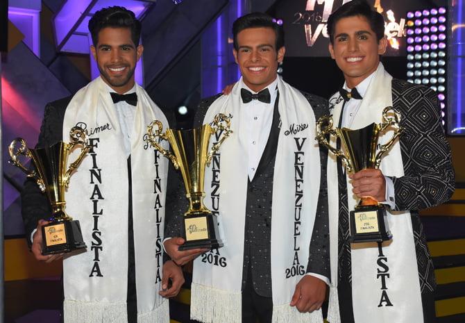 Renato Barabino triunf¿ y se convirti¿ en Mister Venezuela 2016, Walfred Crespo y Gustavo Acedo alcanzaron el cuadro final como primer y segundo finalista.Fotografia: Jesus Gil