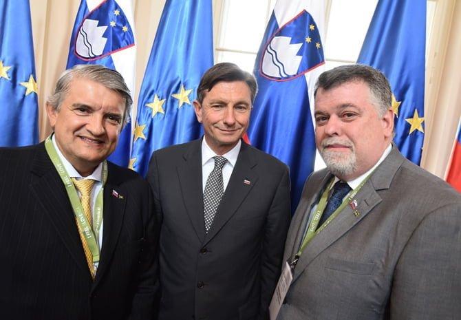 Ljubljana, predsedniska palaca. Srecanje castnih konzulov RS. Sprejem pri predsedniku republike Borutu Pahorju.