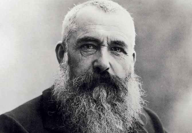 MMT164898 Portrait of Claude Monet (1841-1926) 1901 (b/w photo) by Nadar, (Gaspard Felix Tournachon) (1820-1910); Musee Marmottan Monet, Paris, France; Giraudon; French,  out of copyright
