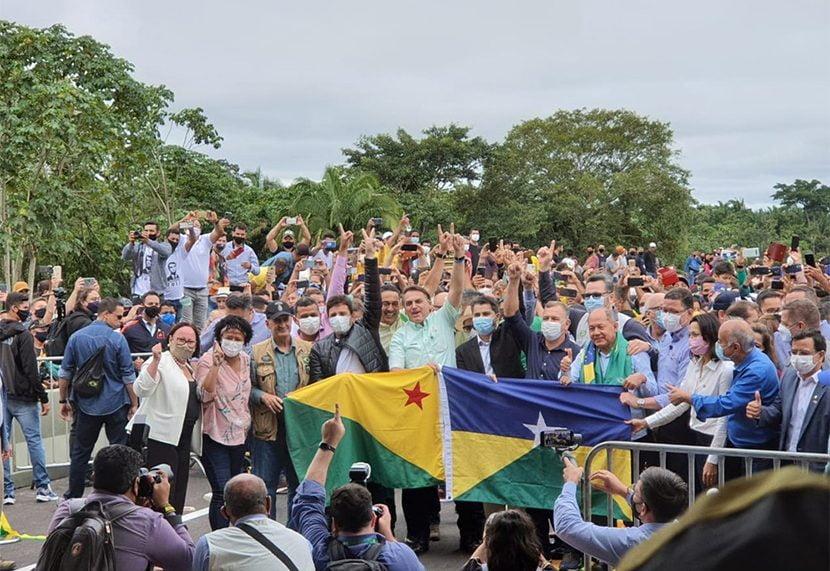 Bolsonaro inaugura a Ponte do Abunã