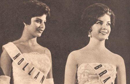 Vera 2º lugar do Miss Beleza Internacional de 1961