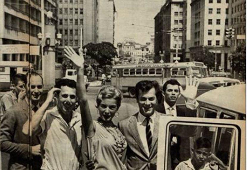 Tony Curtis e Janet Leigh no Recife